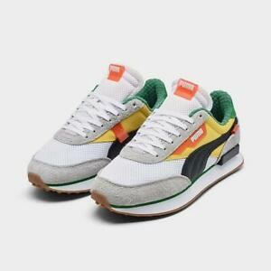 PUMA FUTURE RIDER EAT UR VEGGIES CASUAL MEN'S WHITE - GREY - ORANGE - GREEN NEW
