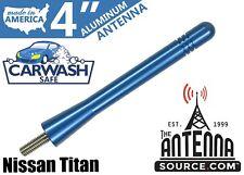 "**SHORT**  4"" ALUMINUM BLUE ANTENNA MAST - FITS: 2019-2020 Nissan Titan"
