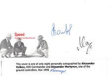 SPEED COVER HANDSIGNED BY COSMONAUT ALEXANDER VOLKOV & ALEXANDER MARTYNOV (a)