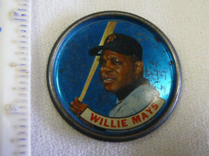 Metal Willie Mays Coin Size
