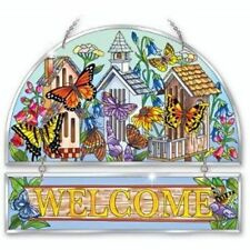 AMIA Stained Glass Welcome Panel - Butterfly Retreat - 41191 - NIB!