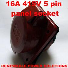 16 Amp 415V 5 Pin Presa Pannello Rosso 3 fase HT-315 16A 450v Generatore OUTLET ecc.