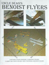 Benoist Paper Airplanes, 8 Planes in One Set, 4 Different Designs. FREE SHIPPING