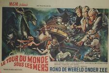 """""""LE TOUR DU MONDE SOUS LES MERS /AROUND THE WORLD UNDER THE SEA""""Affiche entoil."""