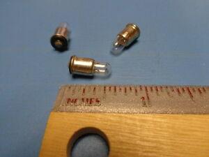 (3) ML8918 M6363/8-4 Mini Light Bulb 14V Flanged Midget Base Micro Lamp T1-3/4