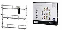 wall mounted 3-Tier Spice and Herb Rack Silver Chrome Plated Easy Fix Organiser