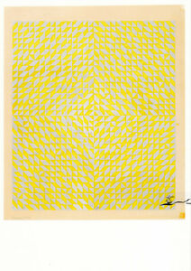 Postkarte: Anni Albers  -  Study for DO II
