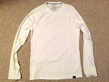 Patagonia Mens Silk Weight Capilene Crewneck Baselayer Tee T-Shirt (White)~ sz S