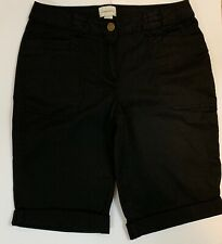 Chicos Black Size 2 Ladies Shorts 2 Front Pockets and 2 Back Pockets Cuffed Hem