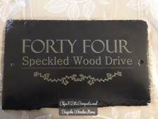SLATE ADDRESS SIGN, HOUSE SIGN PLAQUE, HOUSE NUMBER ENGRAVED PERFECT GIFT