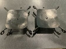 "Wrought Iron Large Candle Holders, holds two Candles (4"" x 4"" base)"
