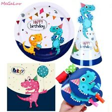 Dinosaur Tableware Sets Paper Plates Baby Shower Kids Birthday Party Supplies