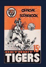 Detroit Tigers vs Washington Senators 1962 baseball scorecard Cash HR & Lary win