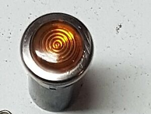 MGB, MGC (1968-76) Ignition Warning Lens Assembly (amber) 27H8052