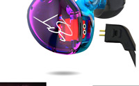 Easy KZ ZST Colorful Hybrid Banlance Armature with Dynamic In-ear Earphone 1B...