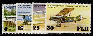 FIJI QEII SG552-555, 1978 aviation anniverseries set, NH MINT.