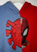 Marvel Comics Amazing Spider-Man Old School Split Hooded Sweat Shirt New XL Pull