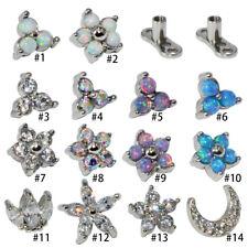 Opal CZ Gem Micro Dermal Anchor Crystal Skin Diver Dermal Body Piercings Jewelry