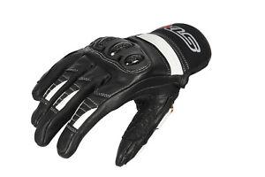 Motorradhandschuhe von XLS kurze Lederhandschuhe schwarz weiß Gr. S bis 3XL