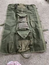 Army Roll Up Tool Or Food Organizer Bag; Durable
