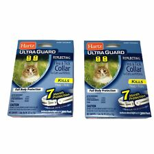 Lot of 2 Hartz Ultra Guard Reflecting Flea & Tick Collar for Cats & Kittens