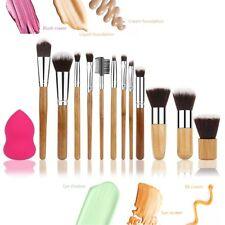 Set 12 Pennelli per Make Up Professionale Cosmetica Trucco Kit Brush