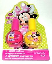 2 DISNEY MINNIE MOUSE Colored Nail Polishes PINK & YELLOW NIP