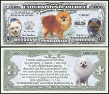 Lot of 25 Bills - Pomeranian Dog Million w/ Puppy & Adult Pics, Facts on Back