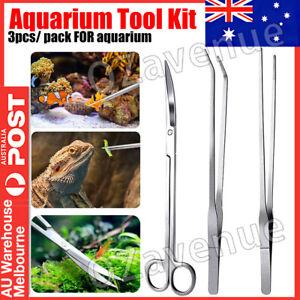 Aquarium Tool Kit Aquatic Plant Tweezers Scissors Spatula Auto Fish Feeder Tank