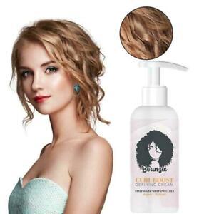 Bounzie Curl Boost Defining Cream Elastin Curly Hair Moisturizing Styling S4N7