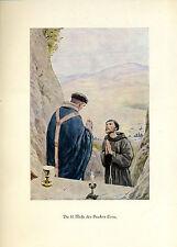 Franziskus -- Die hl. Messe des Bruders Leon - Coloriert - aus 1931