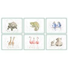 6er Set Zoo Tiere weiß grün Korken Platzdeckchen 30.5 x 23 x 0.6cm