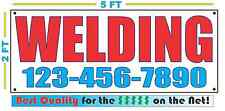 WELDING w/ CUSTOM PHONE Banner Sign NEW