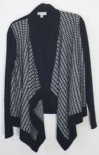 Nordstrom Collection 100% cashmere black and white cardigan sweater size M