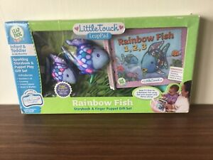 Little Touch LeapPad Rainbow Fish Storybook and Finger Puppet Gift Set H02