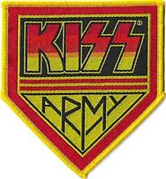 Official Licensed Merch Woven Sew-on Badge PATCH Glam Rock KISS Army