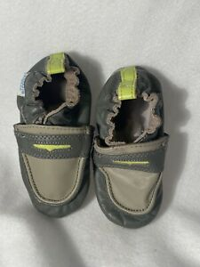 ROBEEZ Crib Shoes Penny Loafer 12-18 mo Baby Boy Infant Soft Leather Slip On Htf