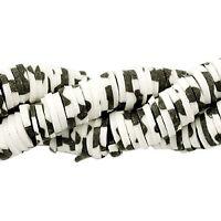 black-off-white 6mm animal-print 100 Stück 43229 Katsuki-Perlen