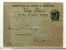 SA205   TYPE SAGE SUR LETTRE ANCIENNE OBLITERATION GARE  GARE  19°SIECLE