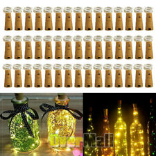 Wine Bottle Cork Shaped String Light 20/30LED Night Fairy Light Warm White US