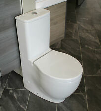Gala Klea Back To Wall Close Coupled Compact WC Toilet & Soft Close Seat
