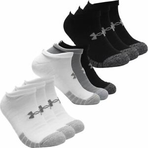 Under Armour HeatGear NS Anti-Odor Arch Support Training Socks Pack of 3