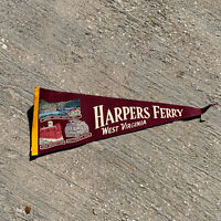 "Vintage Harpers Ferry West Virginia John Brown Jeffersons Pennant 24"" No Tassel"