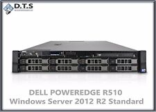 Dell PowerEdge R510 24gb DDR3 RAM 2.93Ghz Server 2012 R2 8x 300GB 15k SAS H700