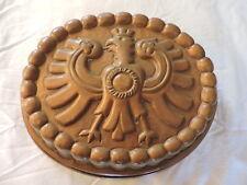 rare ancien moule cuivre décor aigle héraldique empire objet déco XIX ème gateau