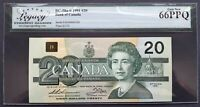 1991 Bank of Canada $20 Low Serial # AIA0000296 Legacy GEM UNC-66 PPQ BC-58a-ii