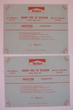 Ferrari Belgio 1976  -- Belgian Grand Prix at Zolder  Pair of Tickets