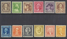 US 1932 George Washington Bicentennial Set (12) - SC# 704-715 - F/VF VF MH*