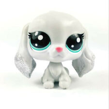 Littlest Pet Shop Sparkle Spectacular Figure LPS Grey Glitter Dog Puppy Toy Gift