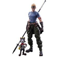 Play Arts Kai Final Fantasy VII Advent Children Cid Highwind & Cait Sith